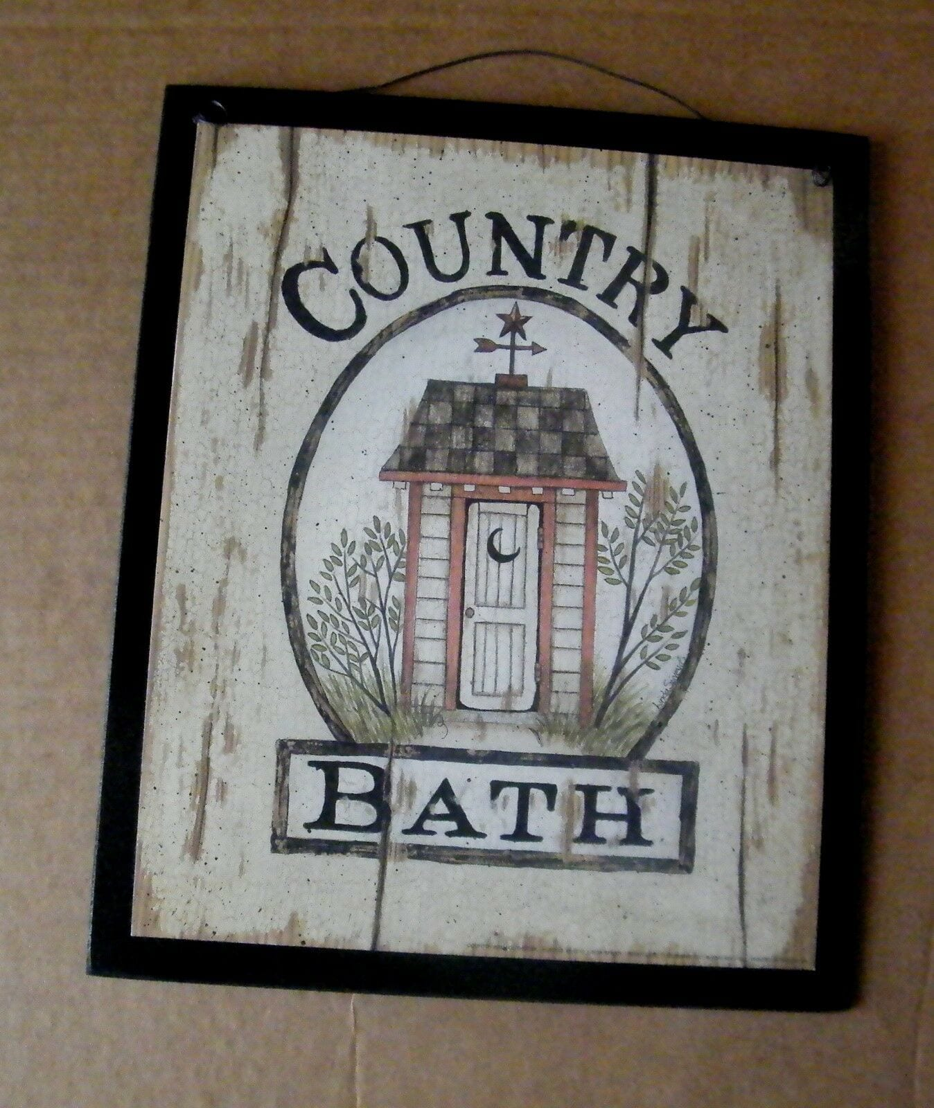 Bath Wooden Outhouse Bathroom Rustic
